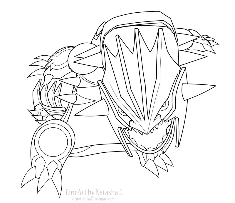 800x690 Primal Groudon Line Art By Fireflea San