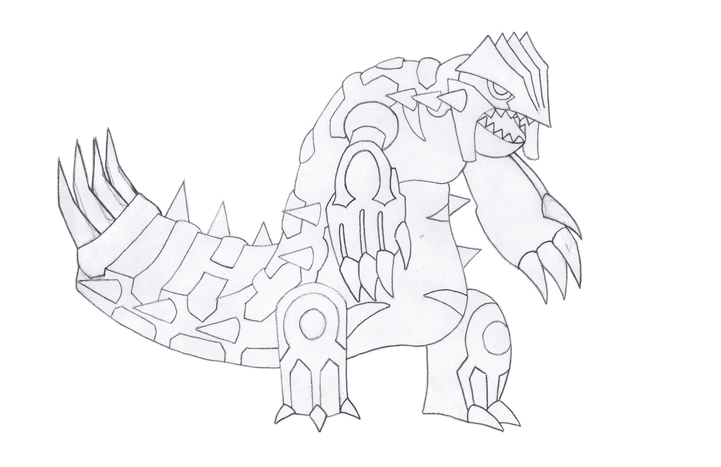 1024x663 Primal Groudon Sketch By Boomkey