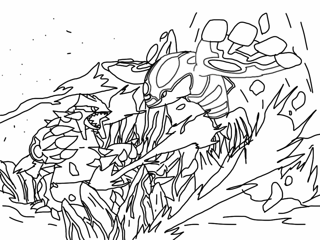 1024x768 Primal Groudon And Kyoger By Arya5