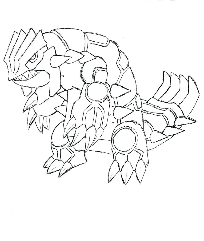 primal groudon coloring pages - photo#17