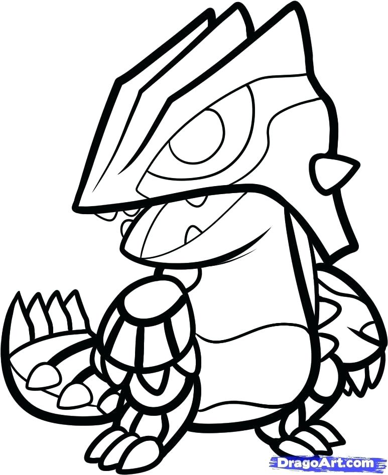 773x947 Groudon Coloring Pages