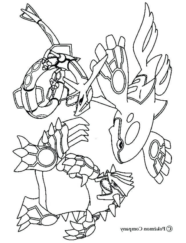 primal groudon coloring pages - photo#5