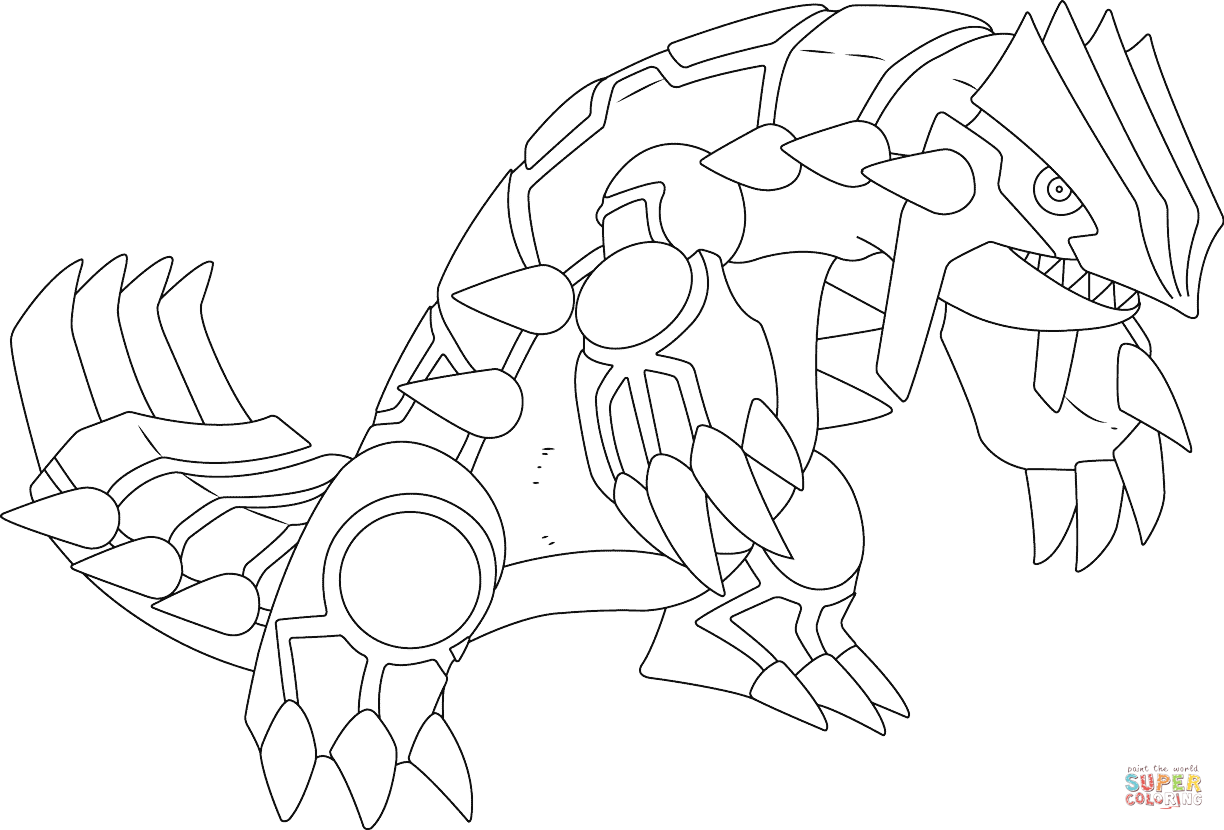 1224x830 Groudon Pokemon Coloring Page Free Printable Coloring Pages