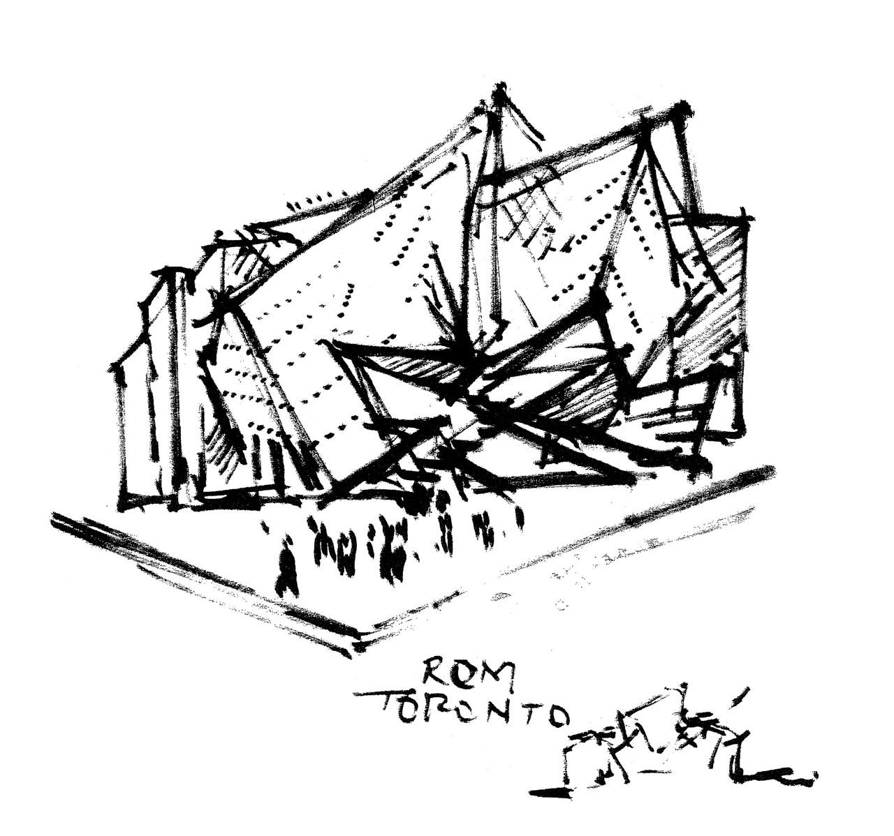1280x1198 Royal Ontario Museum Napkin Sketch Architecture Design Process