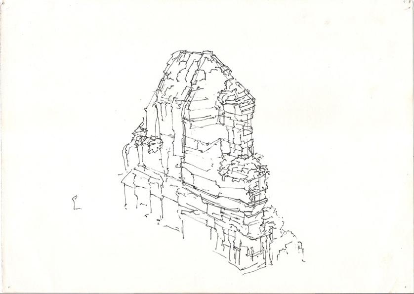 838x595 Sydney 2011)mountain Drawing