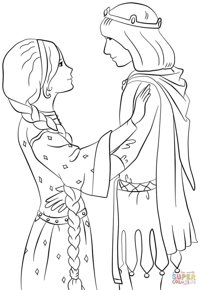 824x1186 Prince And Princess Coloring Pages Prince And Princess Coloring