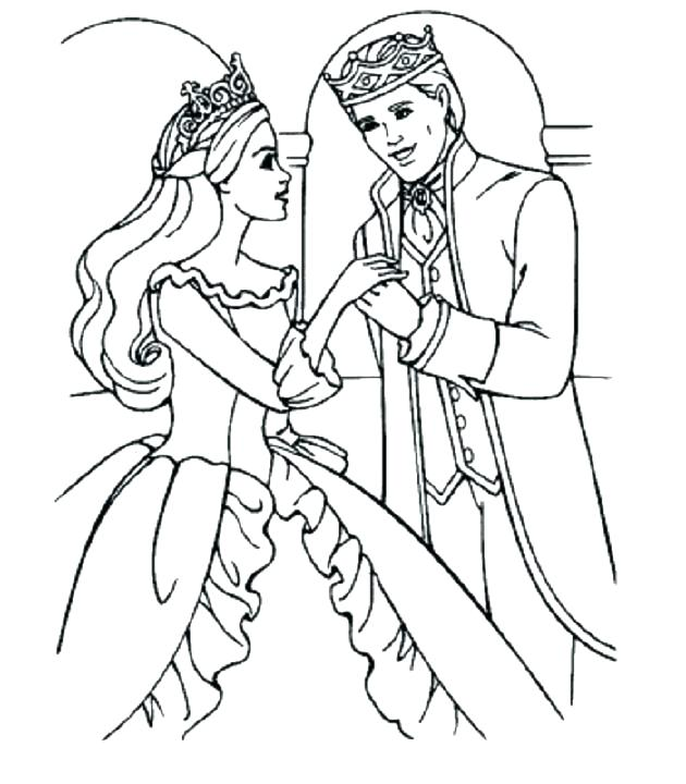 630x720 Prince Eric Coloring Pages Princess And Prince Coloring Drawing