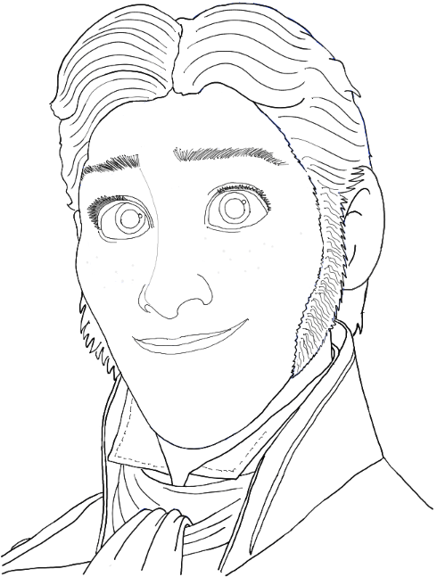 490x647 How To Draw Prince Hans From Frozen With Easy Step By Step