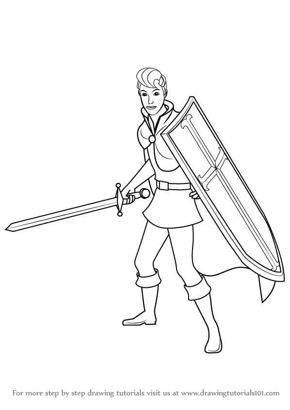 598x845 Learn How To Draw Prince Phillip From Sleeping Beauty (Sleeping