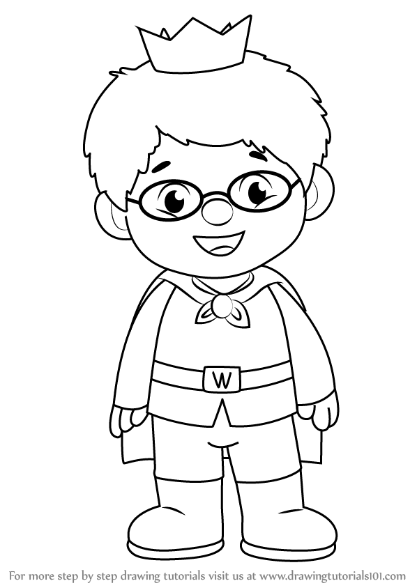 598x844 Learn How To Draw Prince Wednesday From Daniel Tiger'S