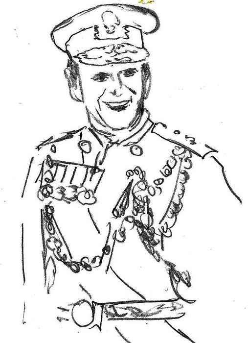 507x700 Prince Philip Drawing By Frederick Lyle Morris