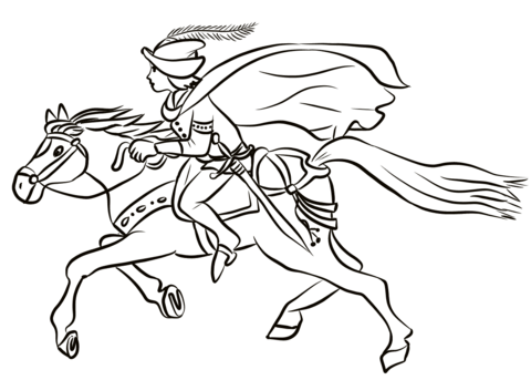 480x343 Prince On Horse Coloring Page Free Printable Coloring Pages