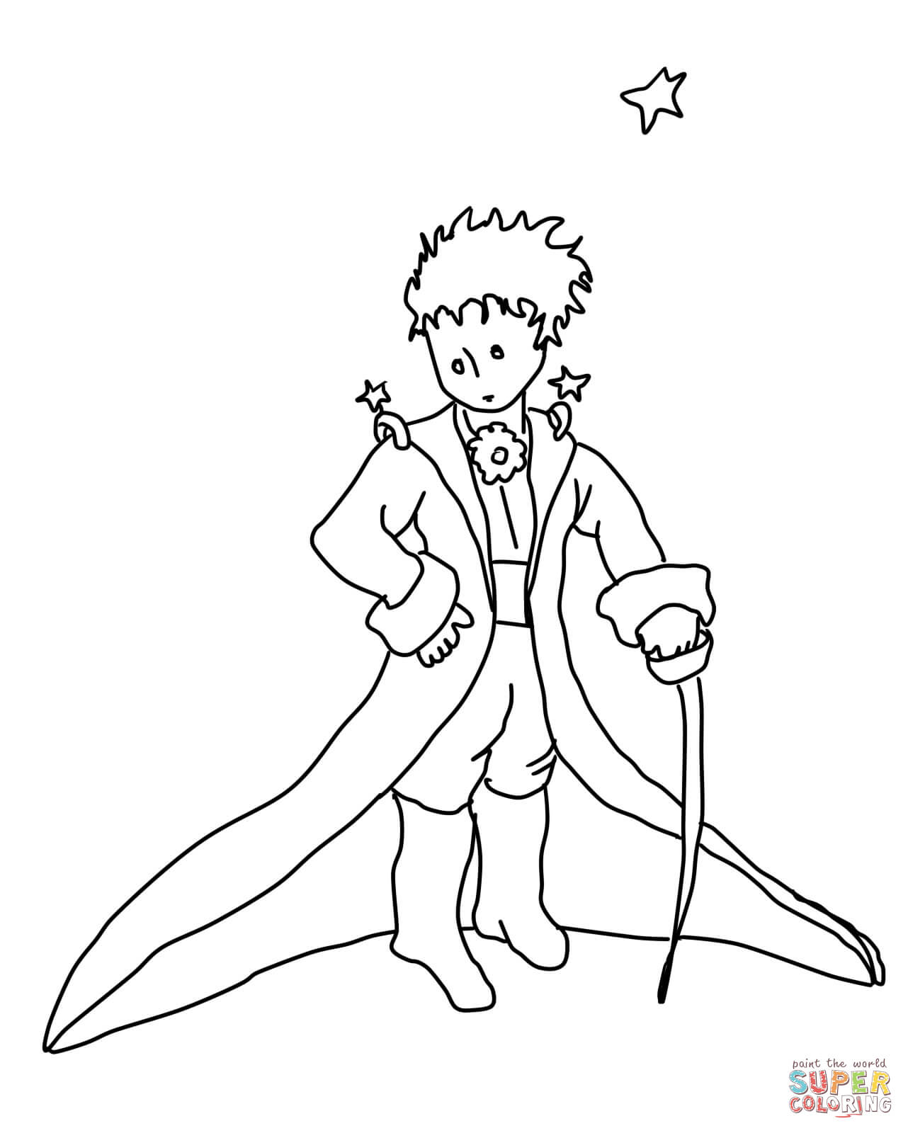 1282x1600 The Little Prince Coloring Page Free Printable Pages Best
