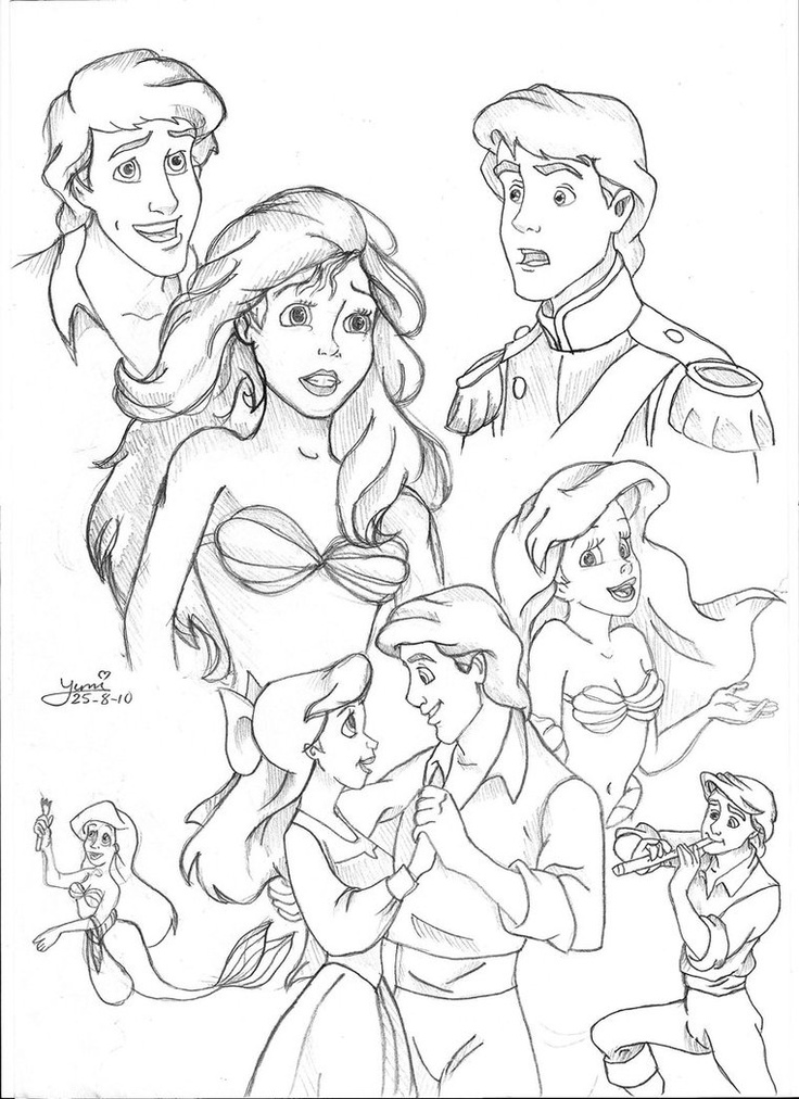 Prince Eric Drawing At Getdrawings Com Free For Personal Use