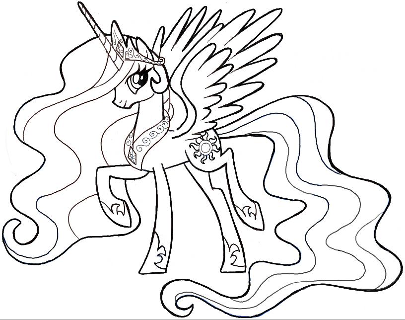 816x644 How To Draw Princess Celestia From My Little Pony Friendship Is