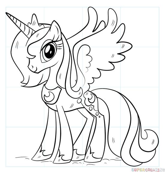 551x575 How To Draw Princess Luna Step By Step Drawing Tutorials