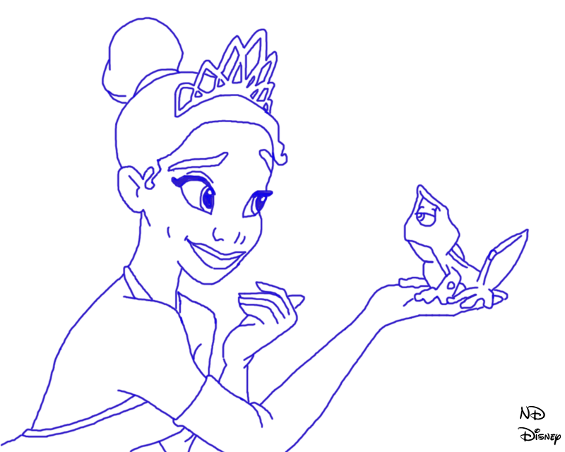 800x640 Princess And The Frog Line Art By Defyinggravityxoox