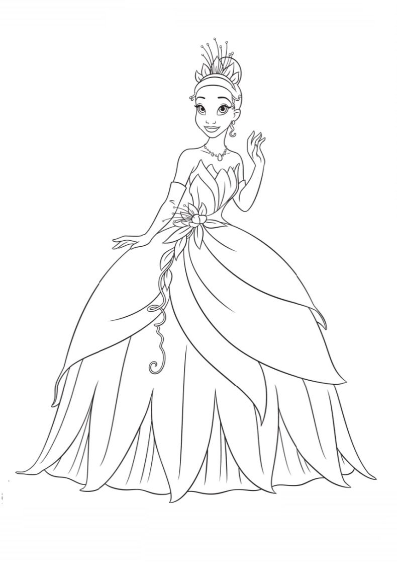 790x1120 The Princess And The Frog Colouring Book Online Game