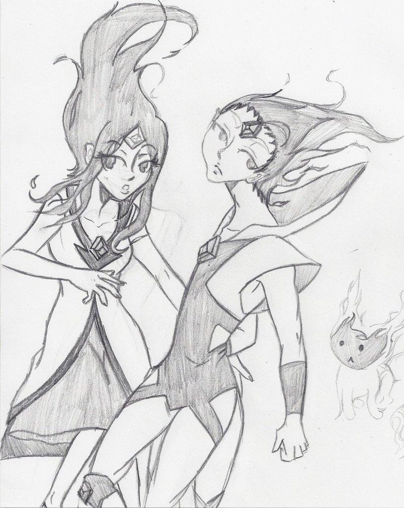 797x1002 Fire Princessprinceadventure Time! Sketch By Narutotomboy