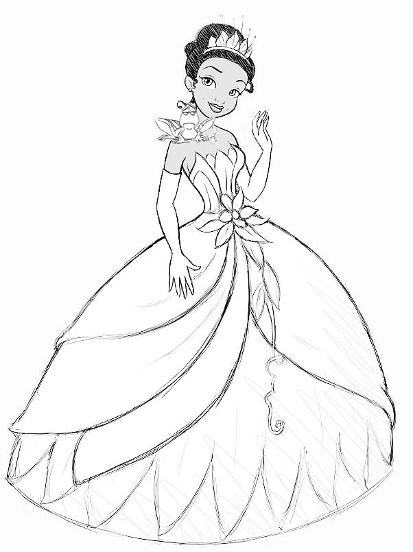 602x805 How To Add The Princess And The Frog Step By Step Drawing Lesson