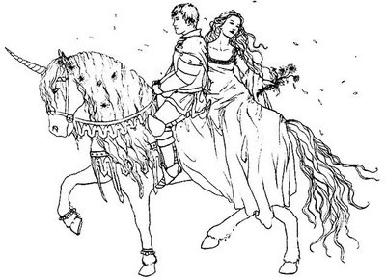 1600x1160 Prince And Princess Drawing Prince and princess on horse printable