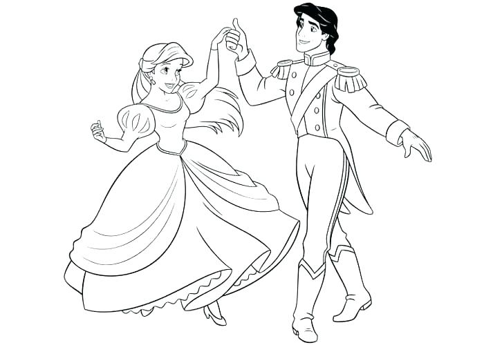 700x500 Prince Eric Coloring Pages Princess And Prince Coloring Drawing