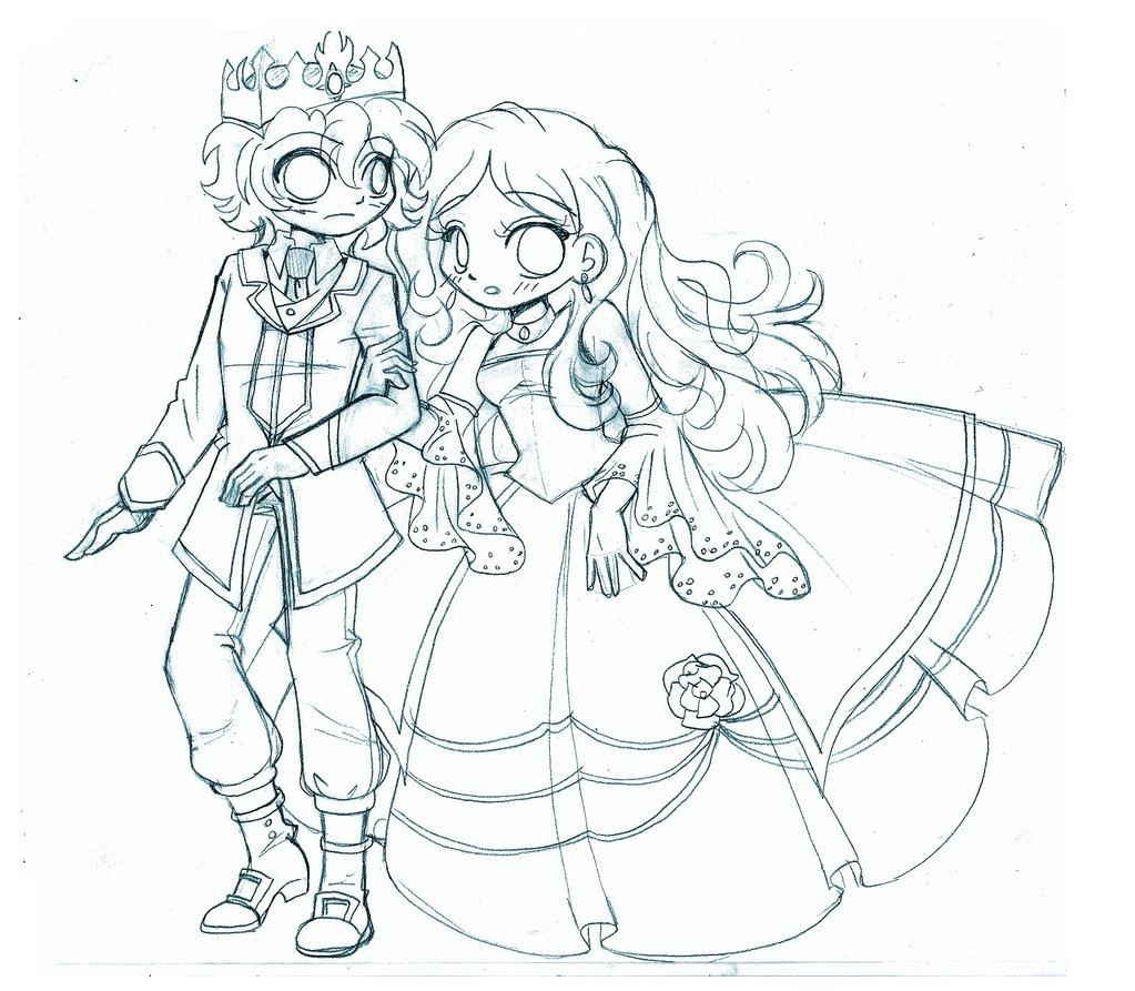 1023x893 Prince And Princess Chibi Commission By Yampuff