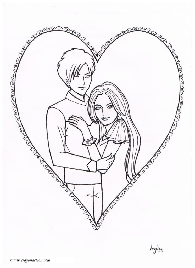 745x1025 Prince And Princess Coloring Page Crayon Action Coloring Pages