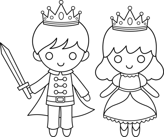 550x460 Prince And Princess Coloring Page Fairy Tales Theme Classroom