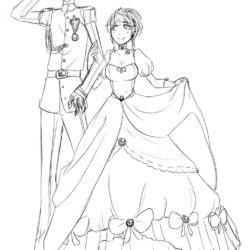 250x250 Prince And Princess Drawing, Pencil, Sketch, Colorful, Realistic