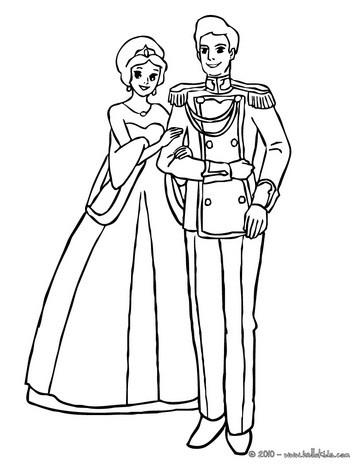 363x470 Princes Couple Coloring Pages