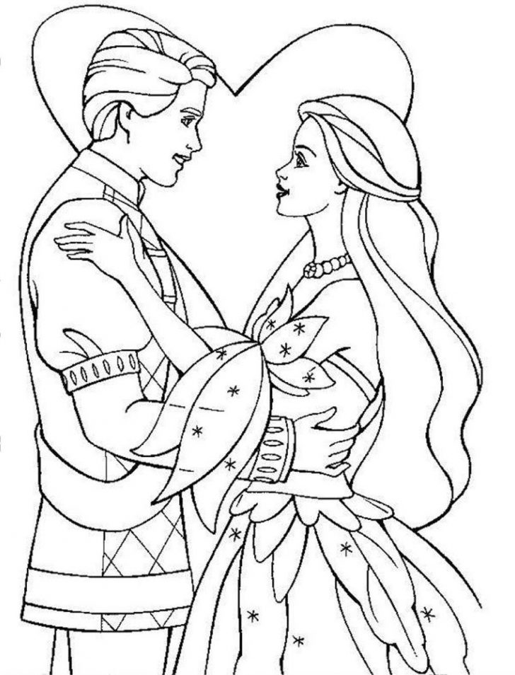 728x954 princess and prince coloring pages