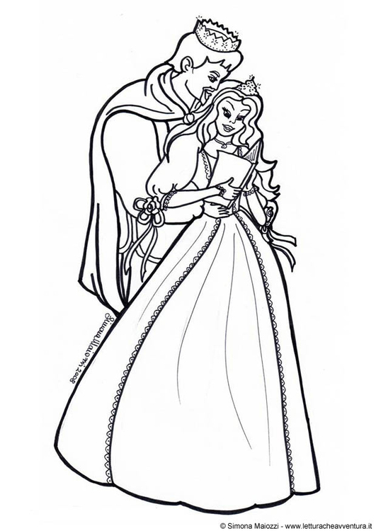 531x750 Coloring Page Prince And Princess
