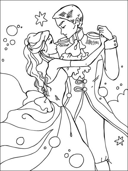 432x575 Disney Princess And Prince Dancing Coloring Books
