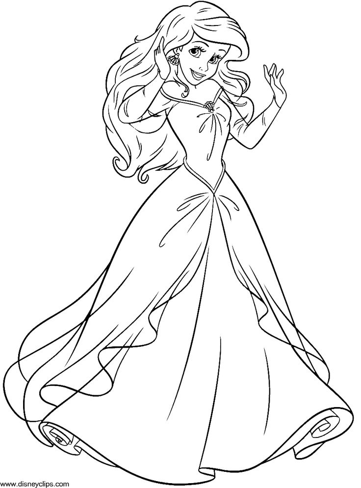 736x995 disney princess ariel coloring pages to print printable in pretty