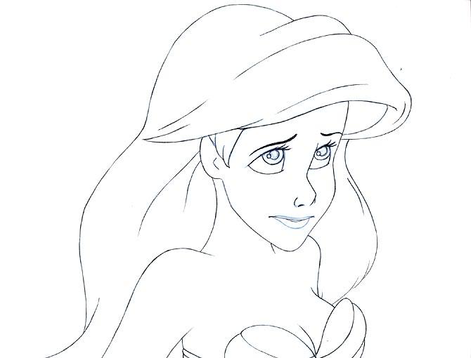 Princess Ariel Drawing at GetDrawings.com | Free for ...  Princess Ariel ...