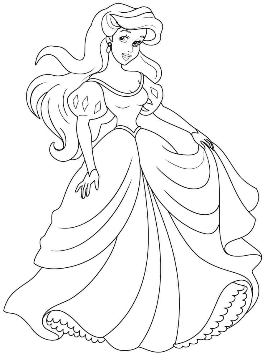 900x1209 Disney Princess Ariel Drawings Download