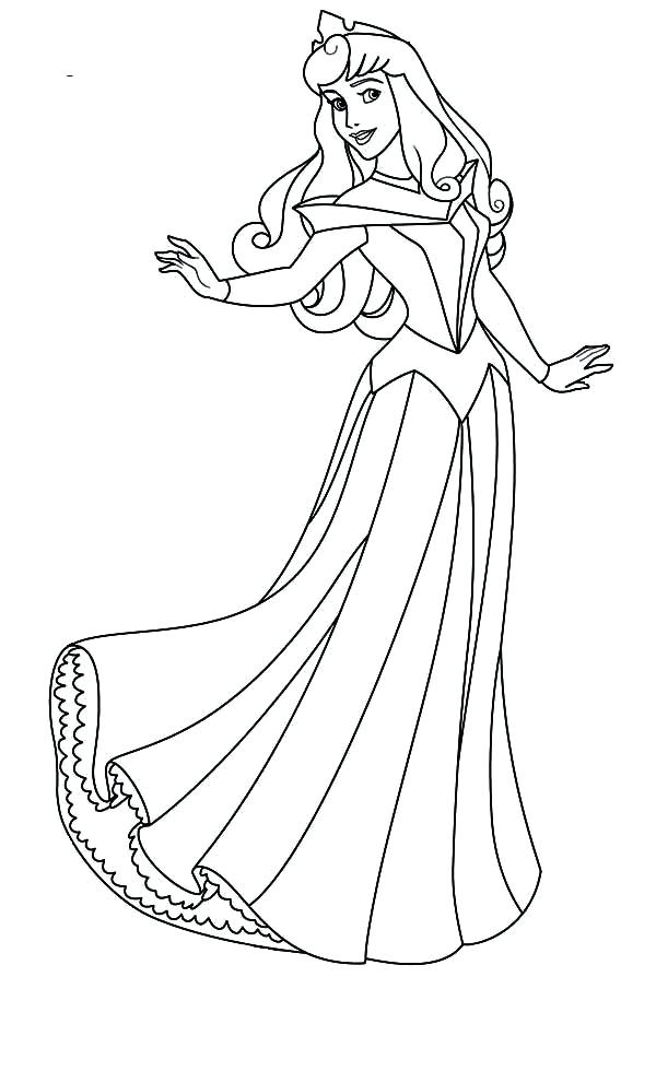 600x980 Coloring Pages Of Princesses Lovely Princess Aurora Coloring Page