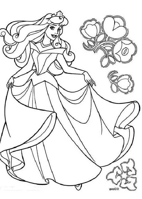 600x840 Disney Princess Aurora In Sleeping Beauty Coloring Page Color Luna