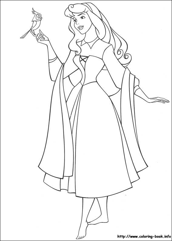 567x794 Disney Princess Coloring Pages Sleeping Beauty Preschool For Tiny