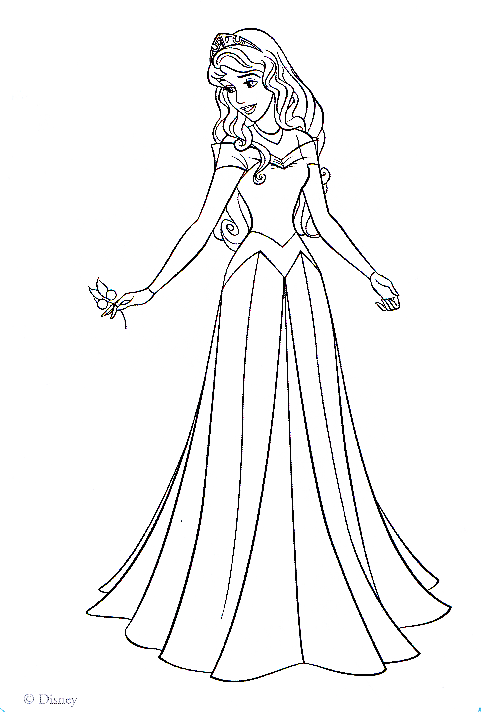 1931x2857 Aurora Coloring Pages