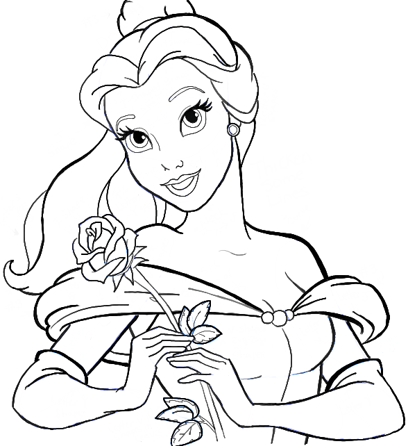 588x642 How To Draw Belle From Beauty And The Beast Step By Step Tutorial