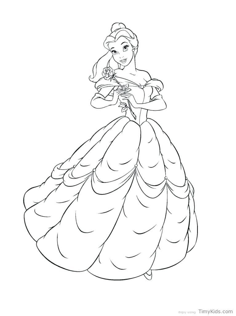 767x1024 Belle Coloring Pages Belle Coloring Page Disney Princess Belle