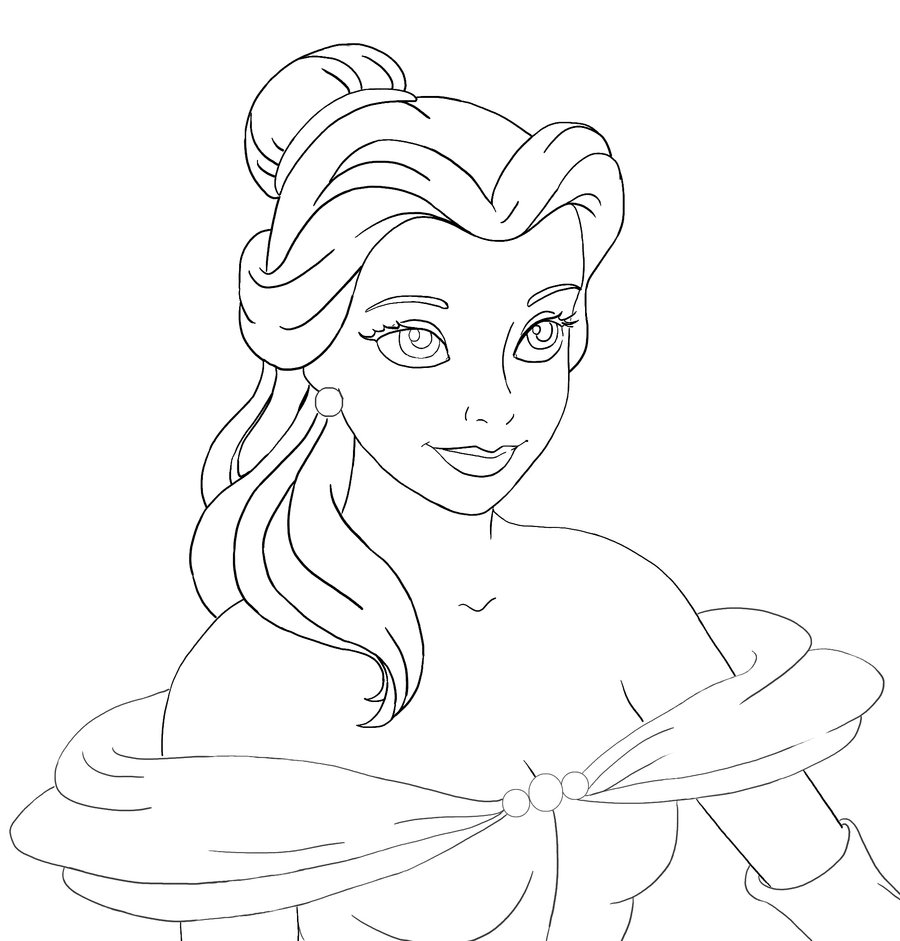 Princess Belle Drawing at GetDrawings.com | Free for personal use ...