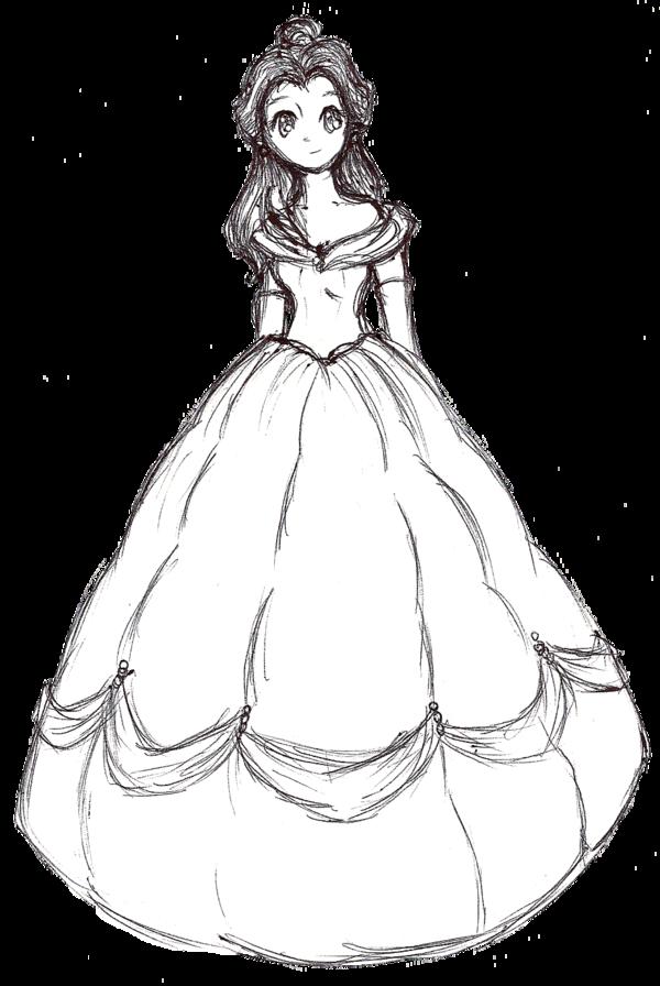 600x896 Belle Ink Sketch By Bunniichan