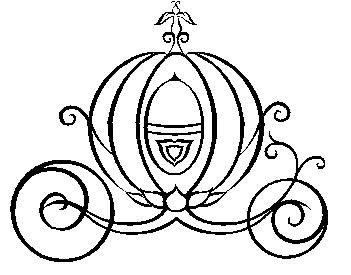 351x275 Cinderella Carriage Black And White Clipart