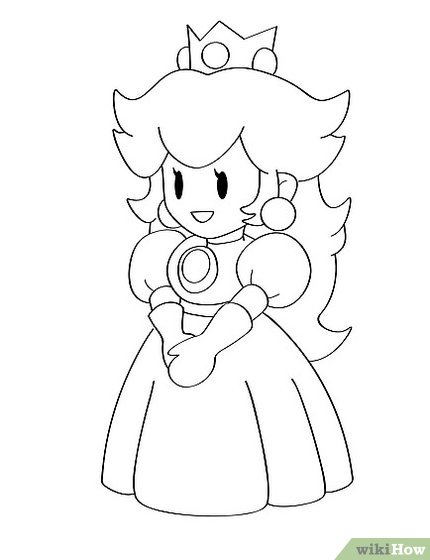 Princess Cartoon Drawing