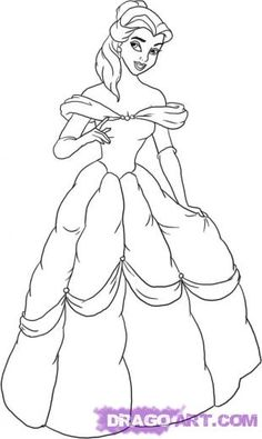 236x395 How To Draw Belle From Beauty And The Beast Step By Step Tutorial