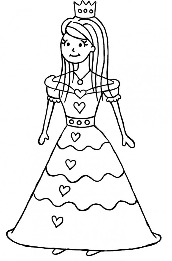 590x894 How To Draw A Princess Step By Step Drawing Drawing And More