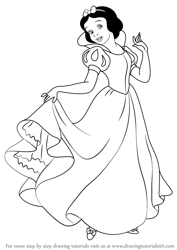 598x844 Learn How To Draw Snow White Princess From Snow White And